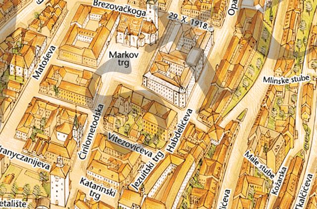 Gornji grad zagreb karta zagreba turistika karta gornji grad 640 px altavistaventures Image collections